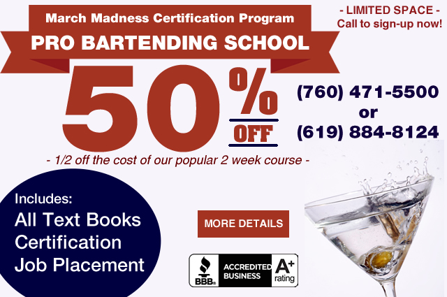 cheap bartending school classes