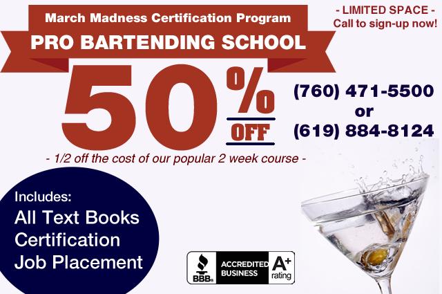 Bartending School Cost Discounts