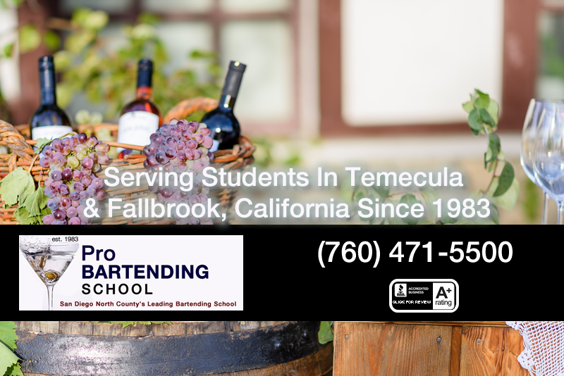 Fall brook temecula bartending schools